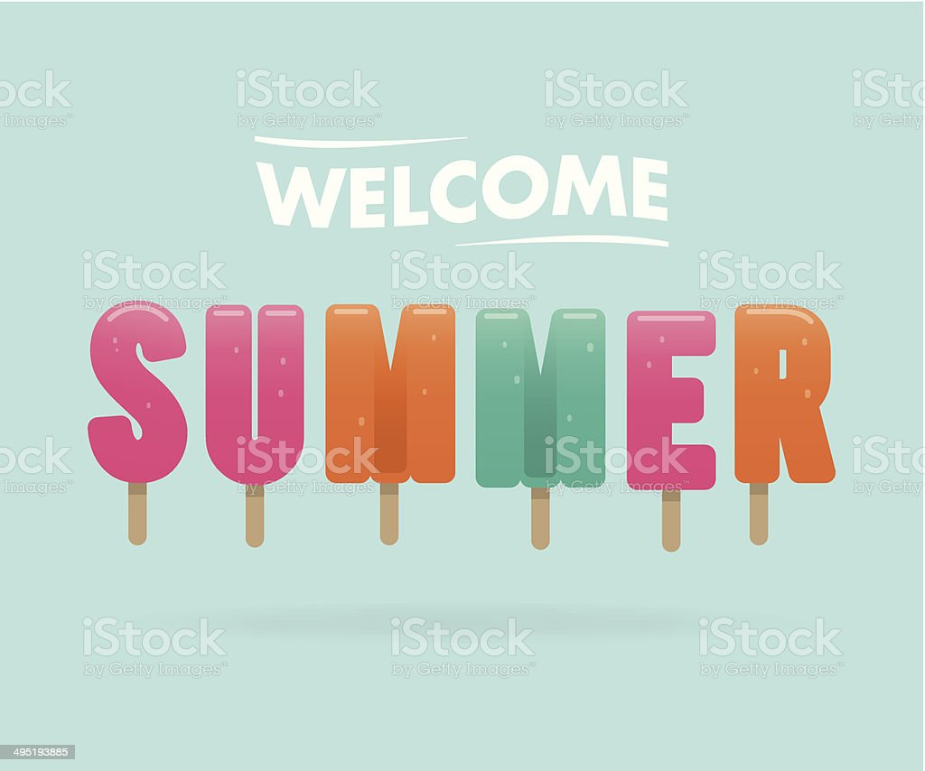 welcome summer vector art illustration