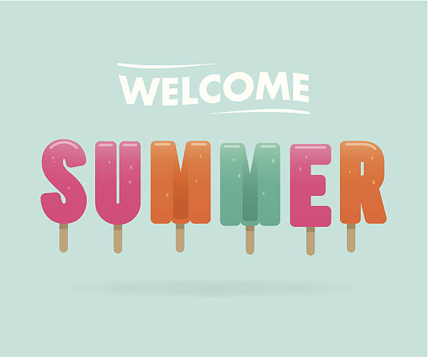 stockillustraties, clipart, cartoons en iconen met welcome summer - juni