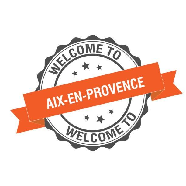 illustrations, cliparts, dessins animés et icônes de bienvenue à l'illustration du timbre aix en provence - aix en provence