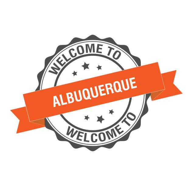 Welcome to Albuquerque stamp illustration vector art illustration