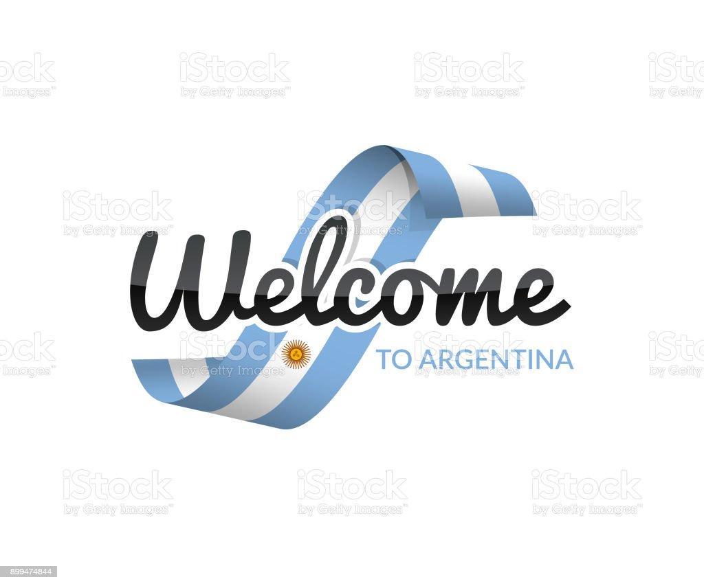 Bienvenido a la argentina - ilustración de arte vectorial
