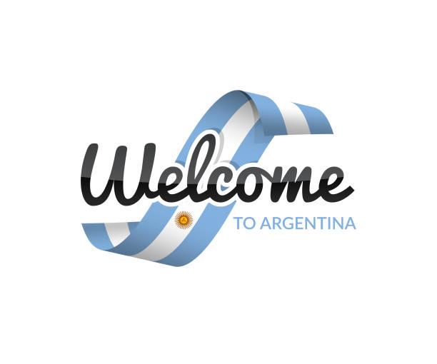 Herzlich Willkommen in Argentinien – Vektorgrafik