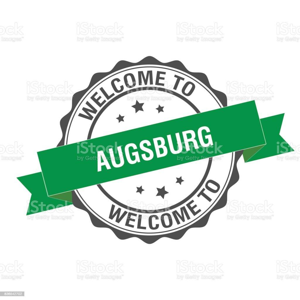 Willkommen Sie bei Augsburg Stempel Abbildung – Vektorgrafik