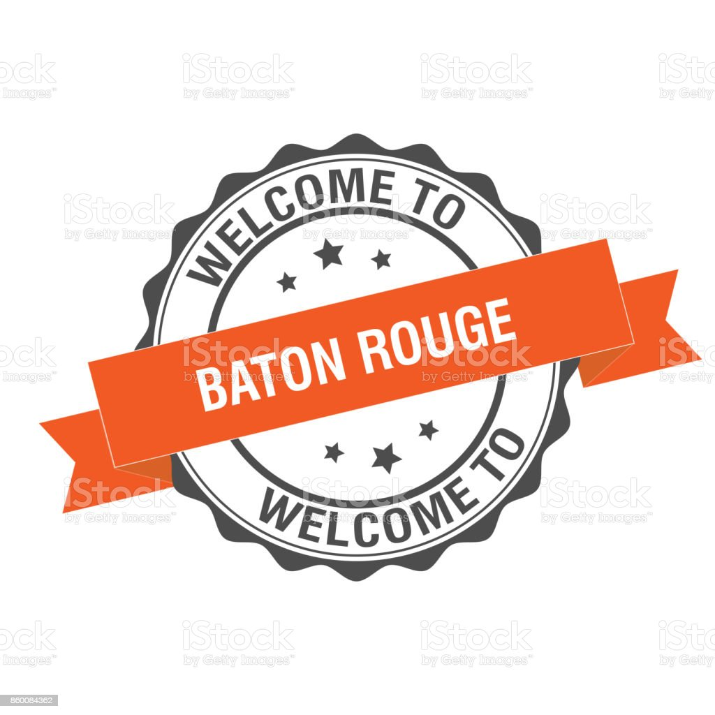 Welcome to Baton Rouge stamp illustration vector art illustration