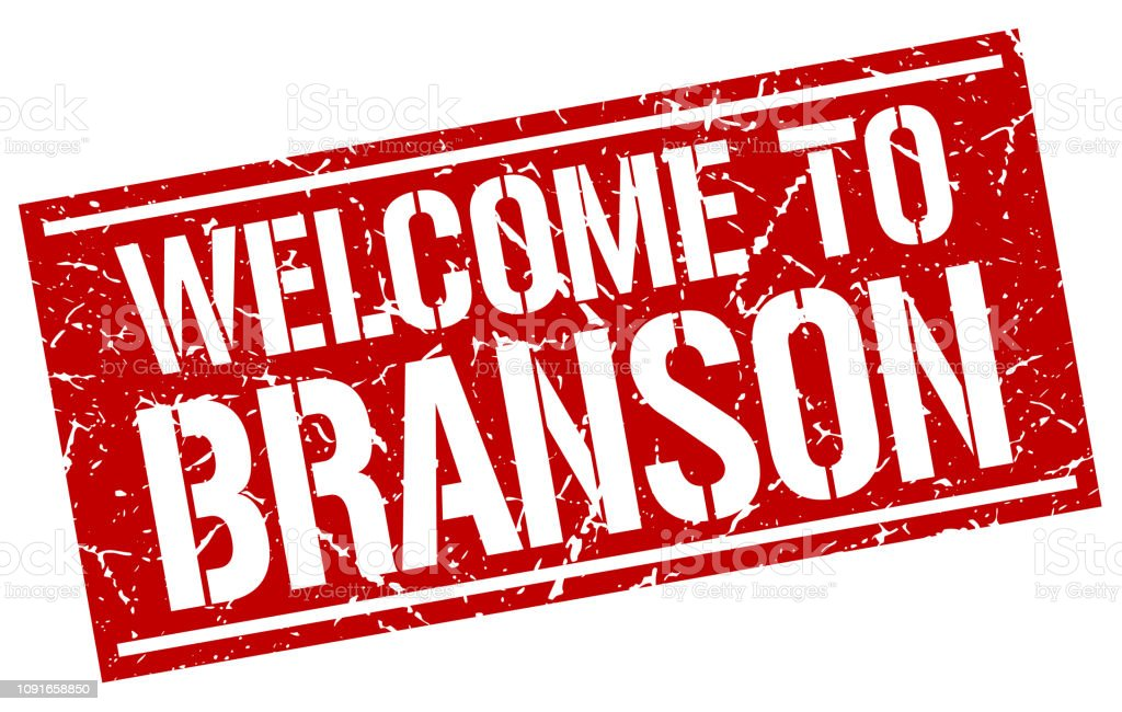 welcome to Branson stamp vector art illustration