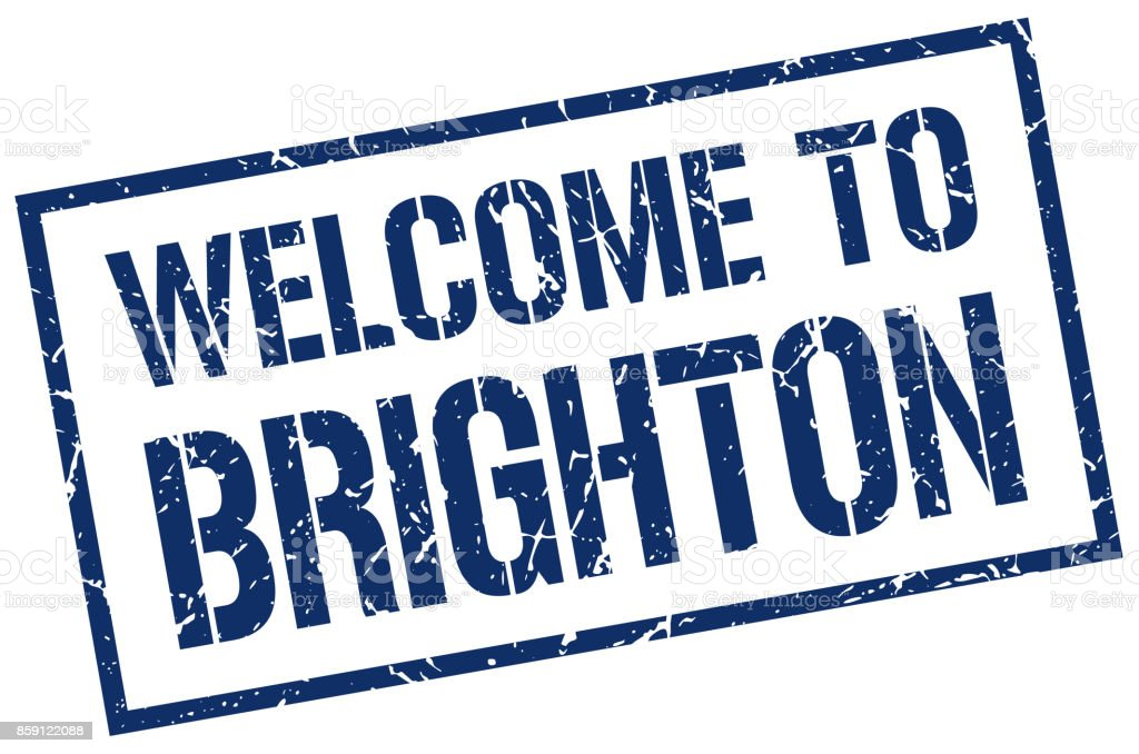 welcome to Brighton stamp vector art illustration