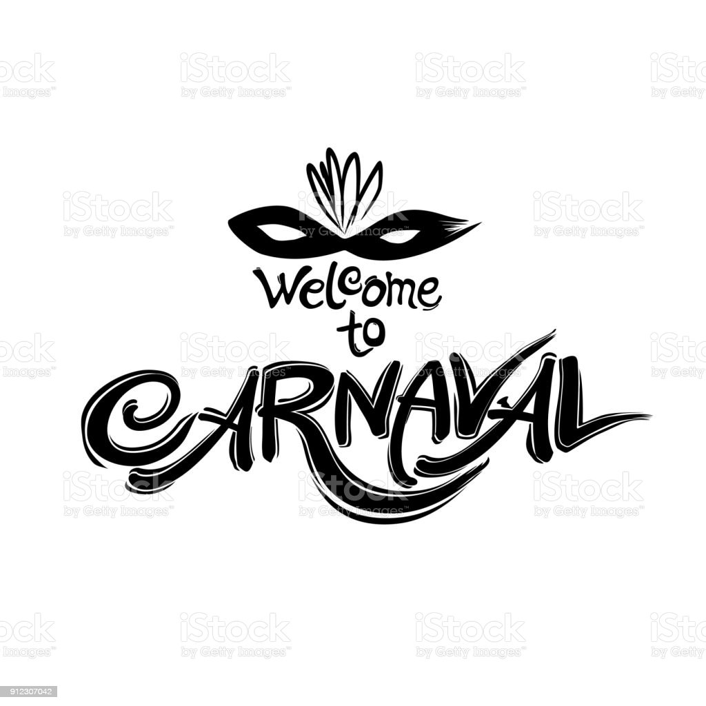 Welcome to Carnaval. - Векторная графика World Title роялти-фри