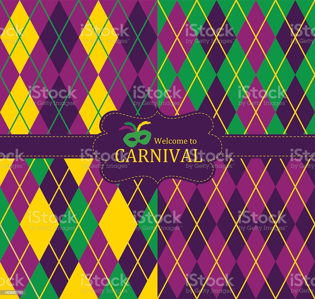 Welcome to Carnival vector art illustration