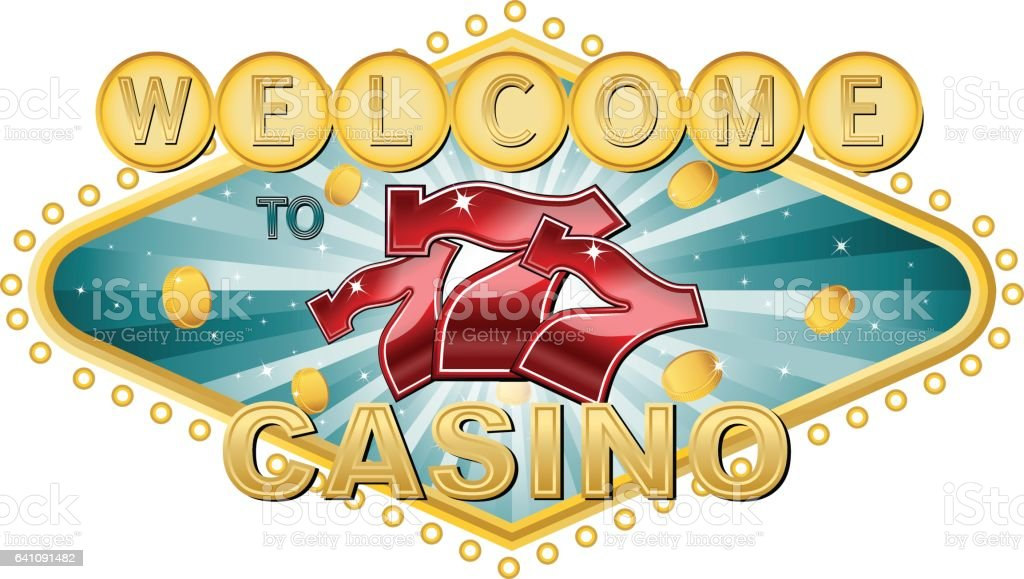 Welcome to casino banner - ilustración de arte vectorial