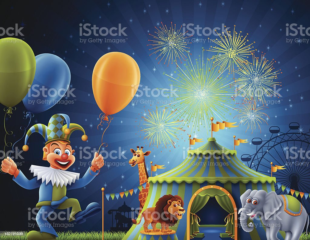 Welcome to Circus royalty-free stock vector art