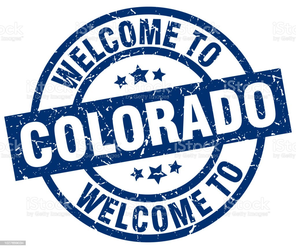 Welcome To Colorado Blue Stamp