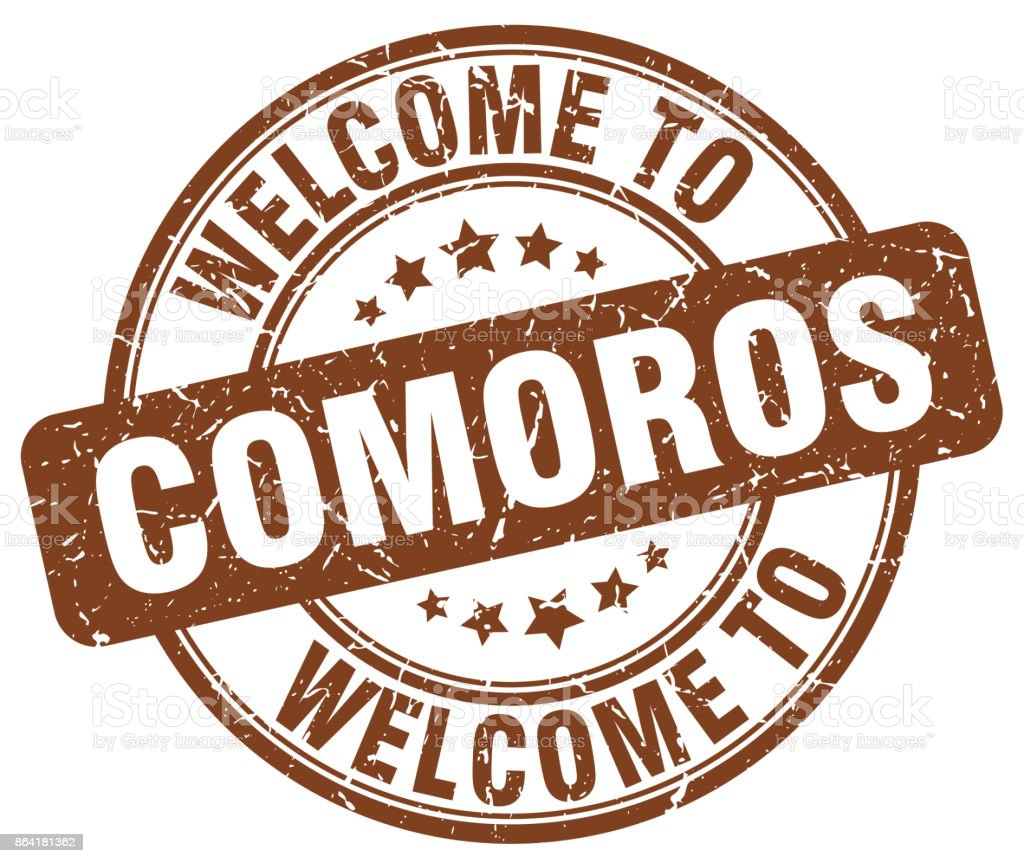 welcome to Comoros brown round vintage stamp royalty-free welcome to comoros brown round vintage stamp stock vector art & more images of badge