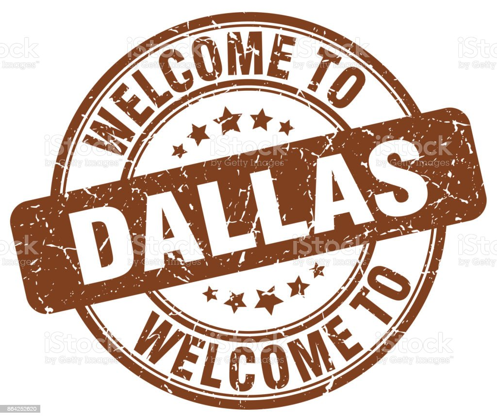 welcome to Dallas brown round vintage stamp royalty-free welcome to dallas brown round vintage stamp stock vector art & more images of badge