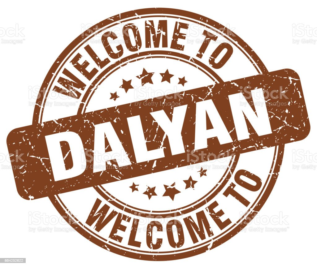 welcome to Dalyan brown round vintage stamp royalty-free welcome to dalyan brown round vintage stamp stock vector art & more images of asia
