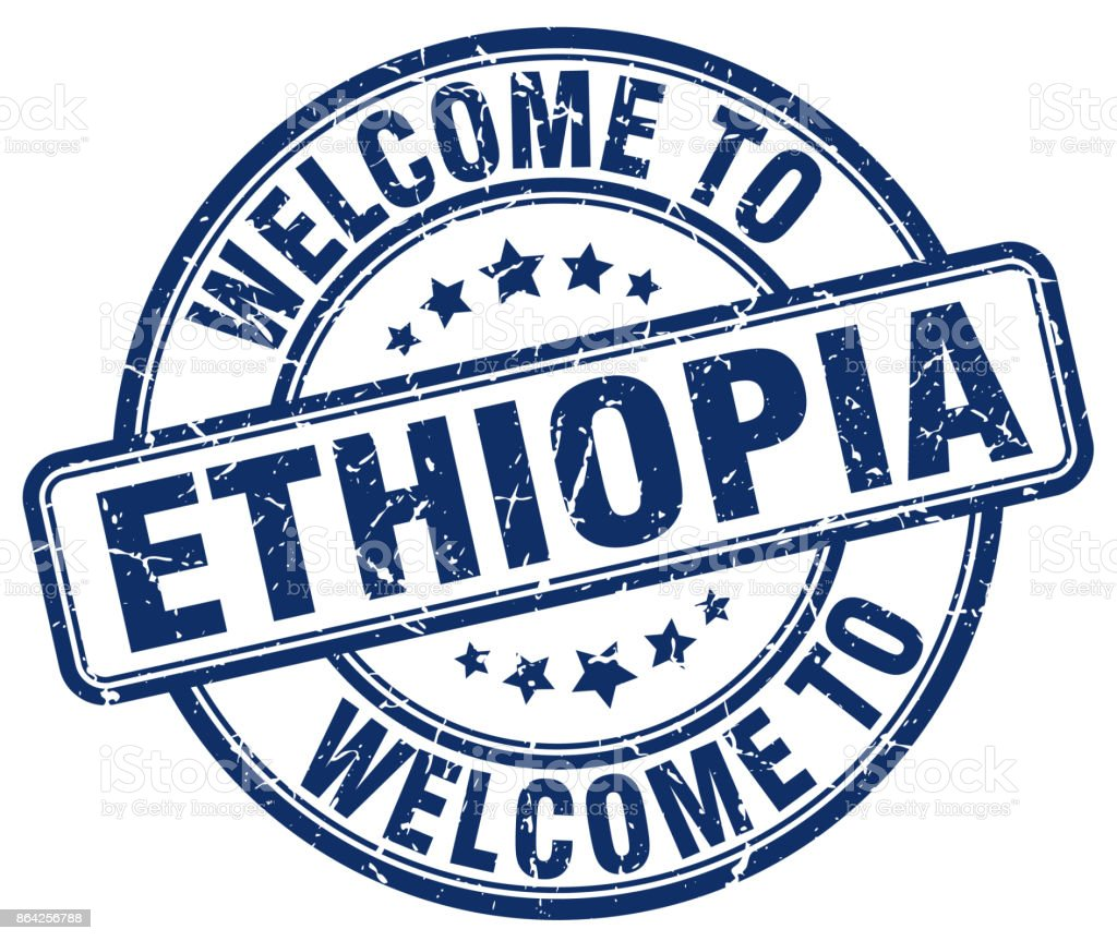 welcome to Ethiopia blue round vintage stamp royalty-free welcome to ethiopia blue round vintage stamp stock vector art & more images of badge