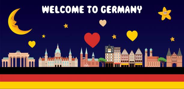 herzlich willkommen in deutschland - ostsee stock-grafiken, -clipart, -cartoons und -symbole