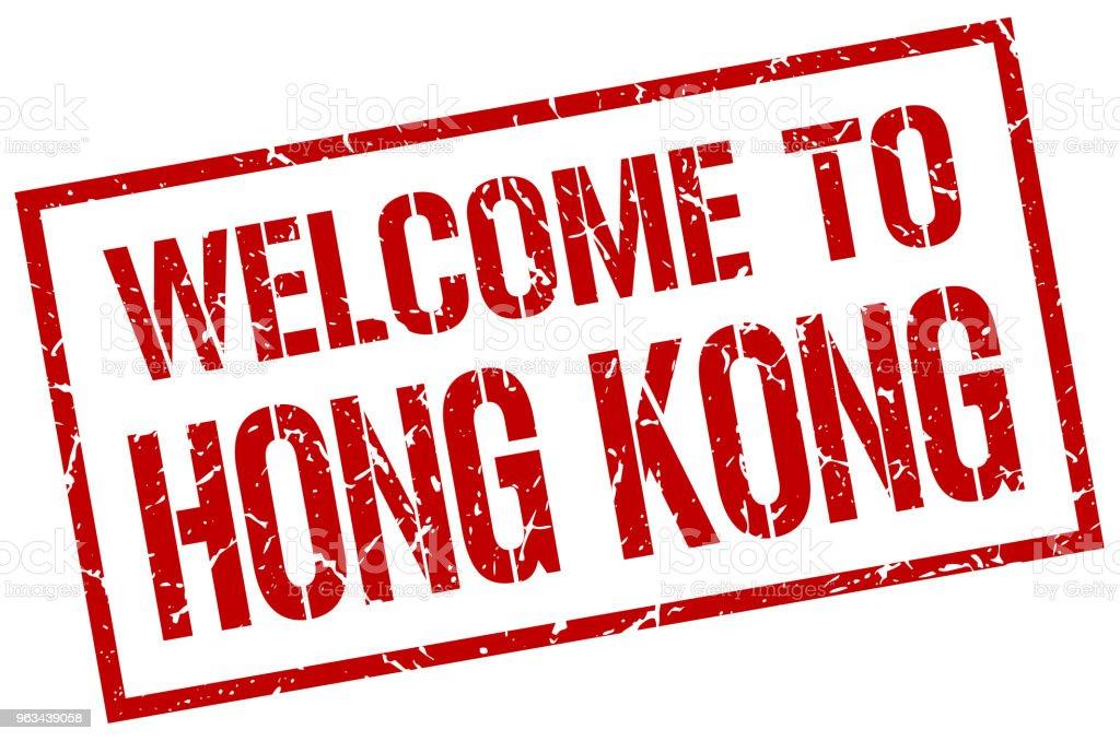 witamy w znaczku Hong Kong - Grafika wektorowa royalty-free (Bez ludzi)