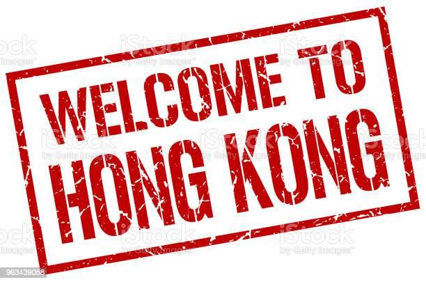 Witamy W Znaczku Hong Kong - Stockowe grafiki wektorowe i więcej obrazów Bez ludzi