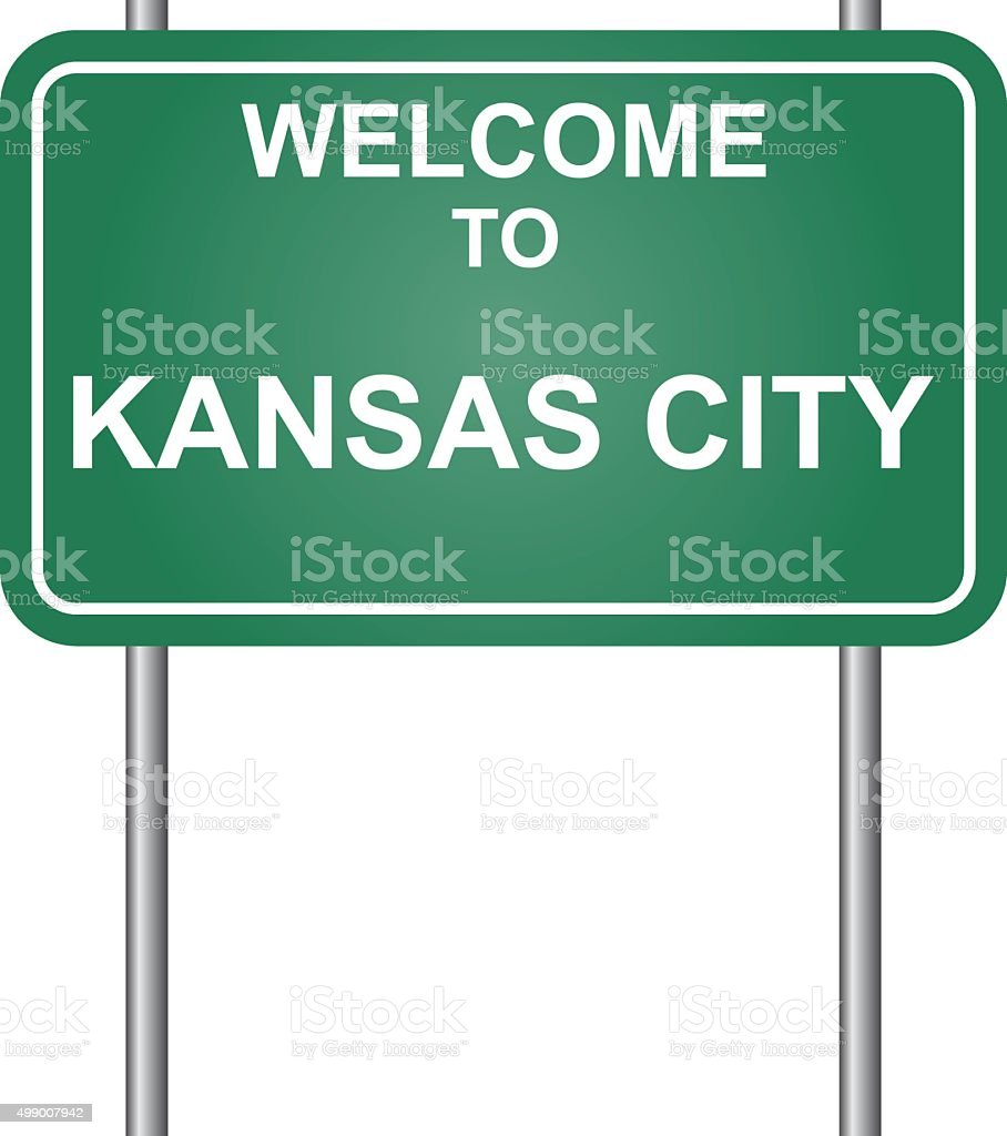 Welcome to Kansas City vector vector art illustration