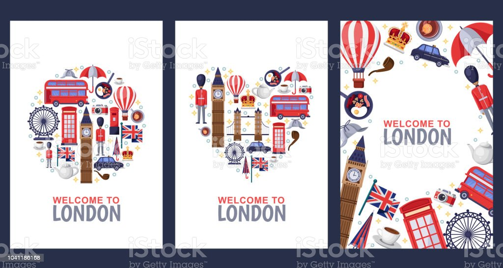 welcome to london greeting souvenir cards print or poster design