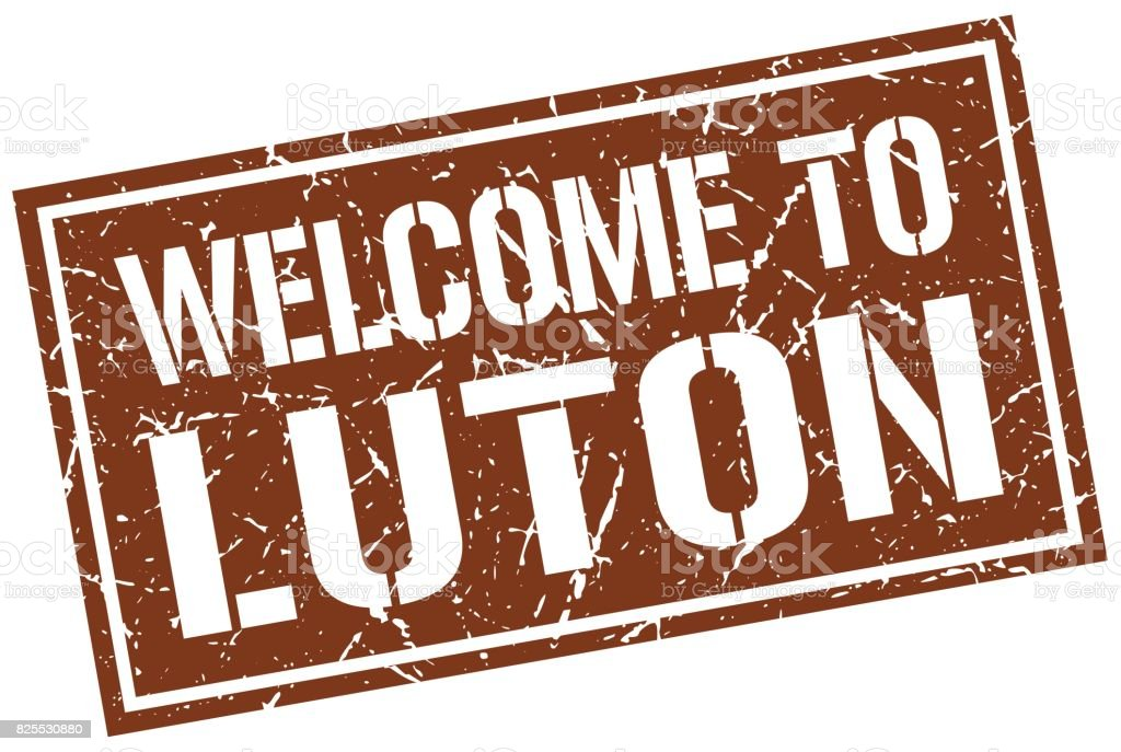welcome to Luton stamp vector art illustration