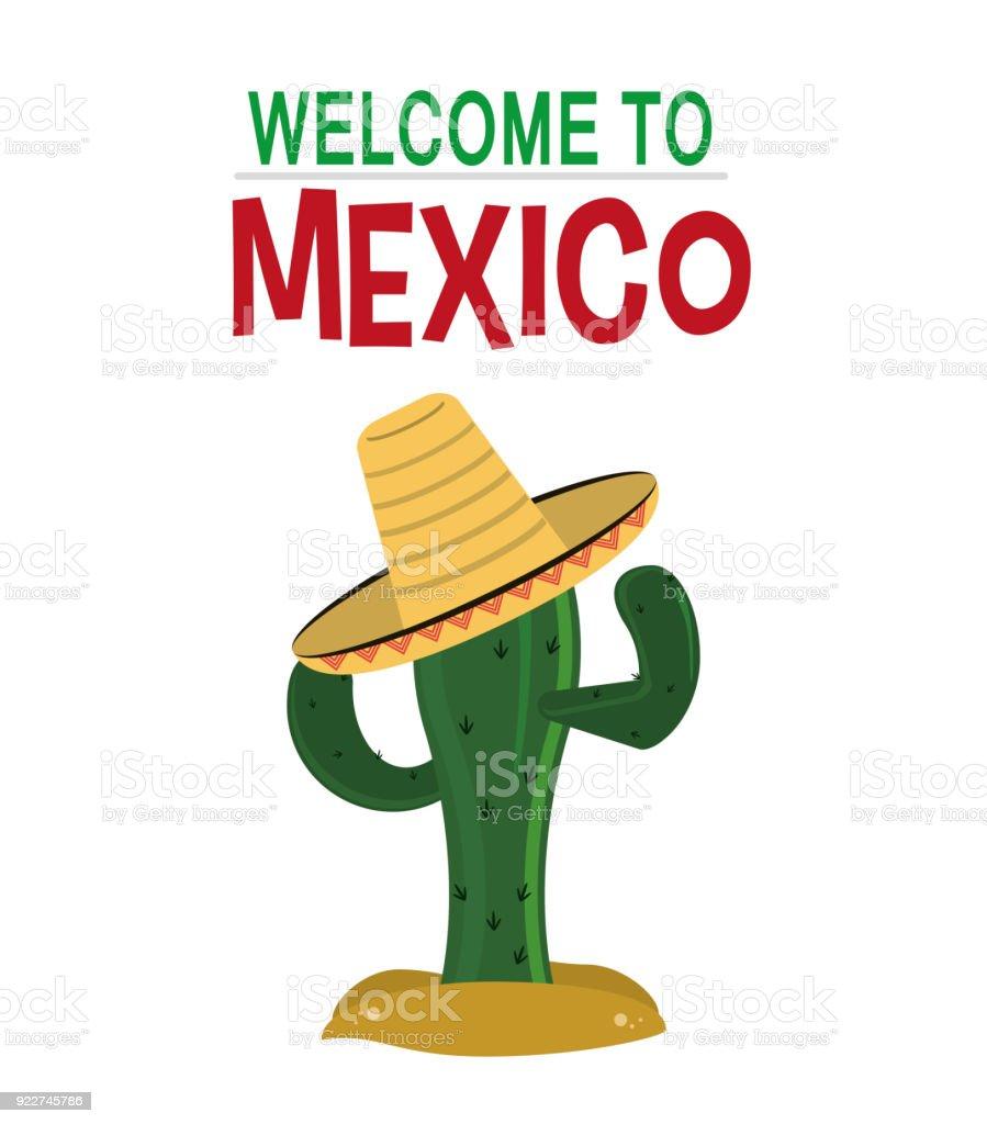 Ilustración De Bienvenido A La Cultura De México Tarjeta