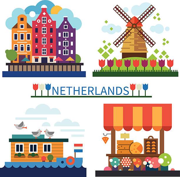 willkommen in den niederlanden - niederlande stock-grafiken, -clipart, -cartoons und -symbole