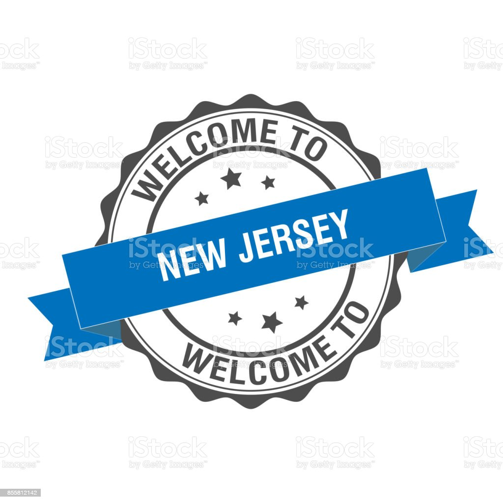 Welcome To New Jersey Stamp Illustration Royalty Free Stock
