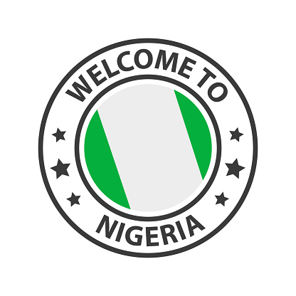 Welcome to Nigeria. Collection of welcome icons.