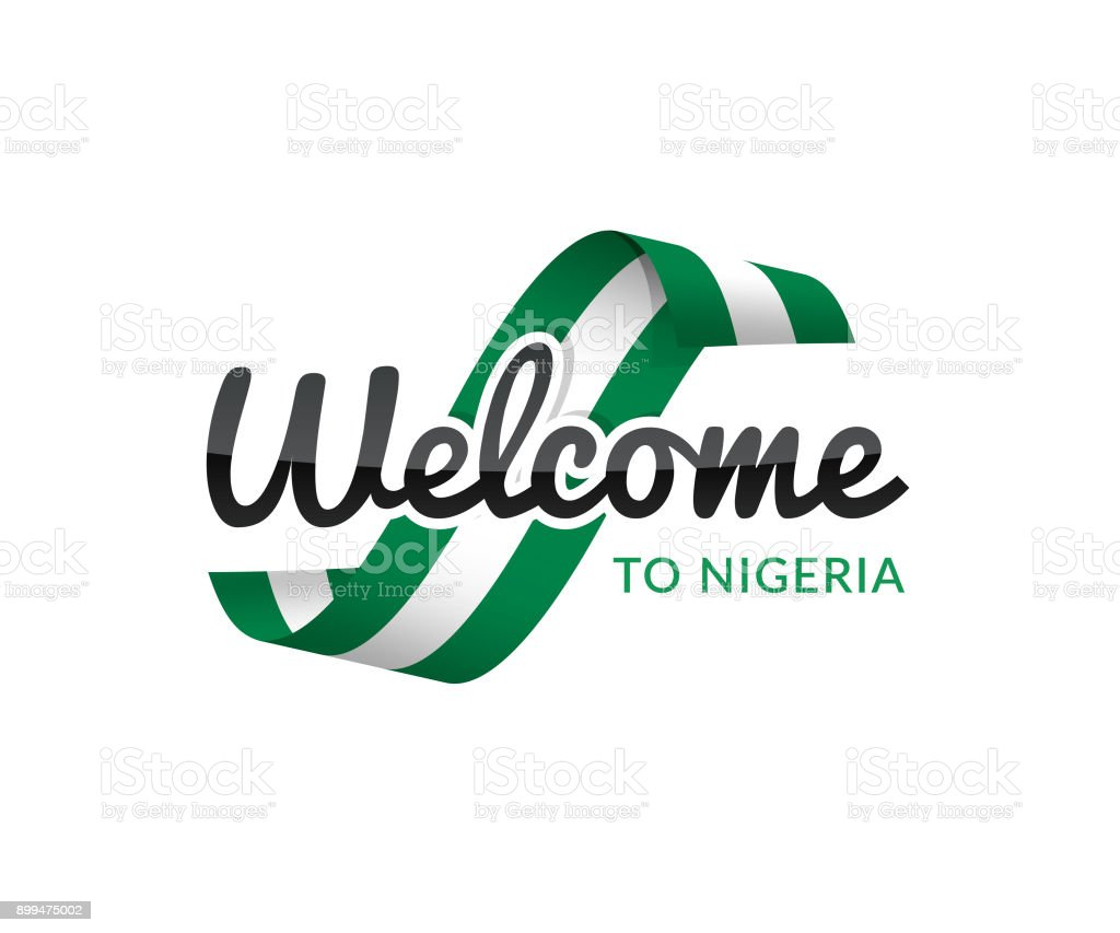 welcome to nigeria vector art illustration
