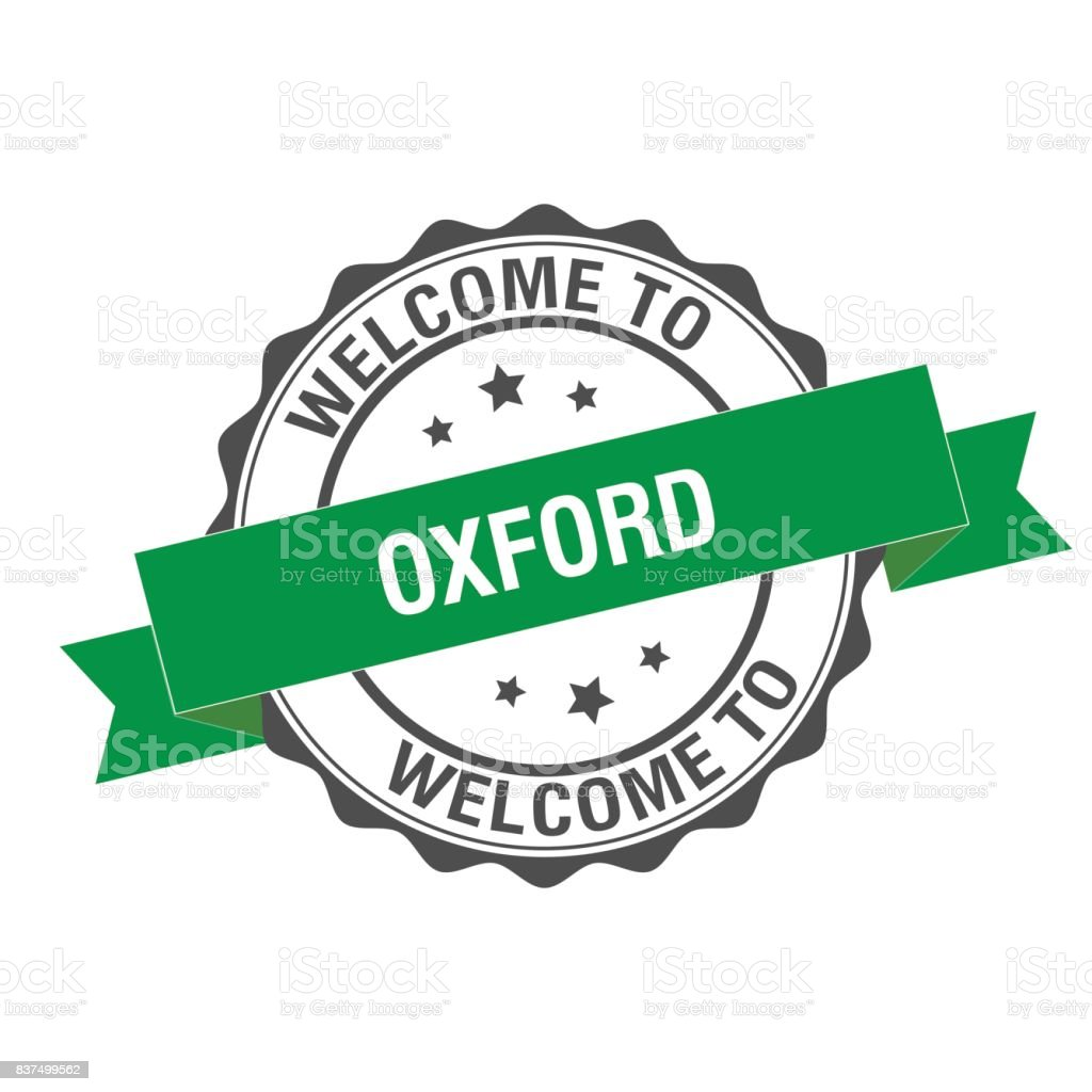 Welcome to Oxford stamp illustration vector art illustration