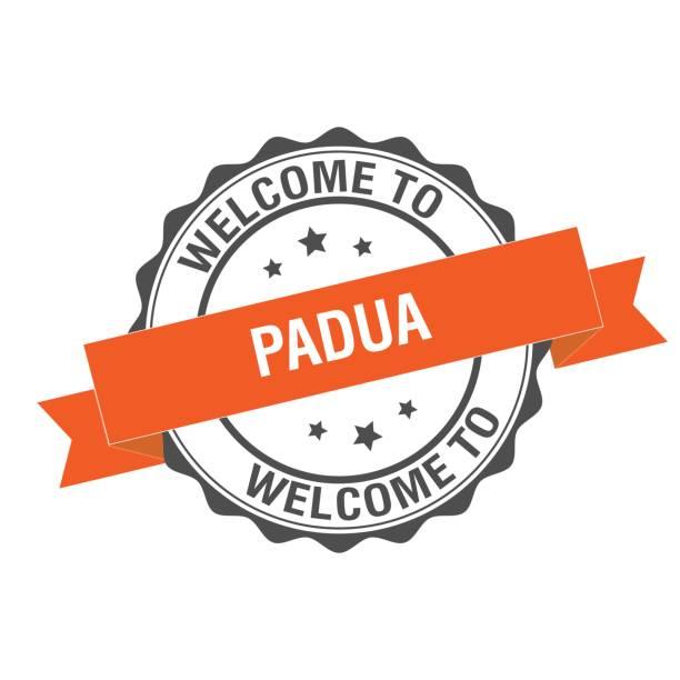 herzlich willkommen sie in padua stempel abbildung - padua stock-grafiken, -clipart, -cartoons und -symbole