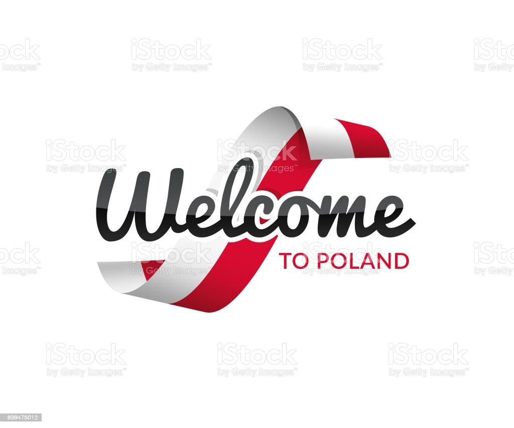 Bienvenidos a Polonia - ilustración de arte vectorial