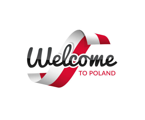 welcome to poland - polish flag stock illustrations, clip art, cartoons, & icons