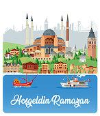 Vector Welcome To Ramadan, İstanbul