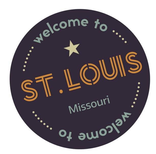 welcome to saint louis missouri - st louis stock illustrations