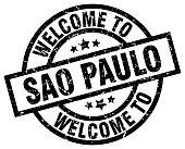 welcome to Sao Paulo black stamp