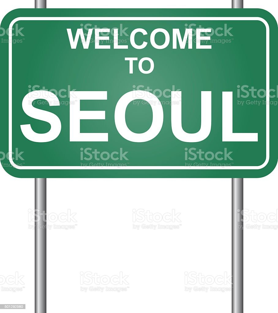 Welcome to Seoul vector vector art illustration