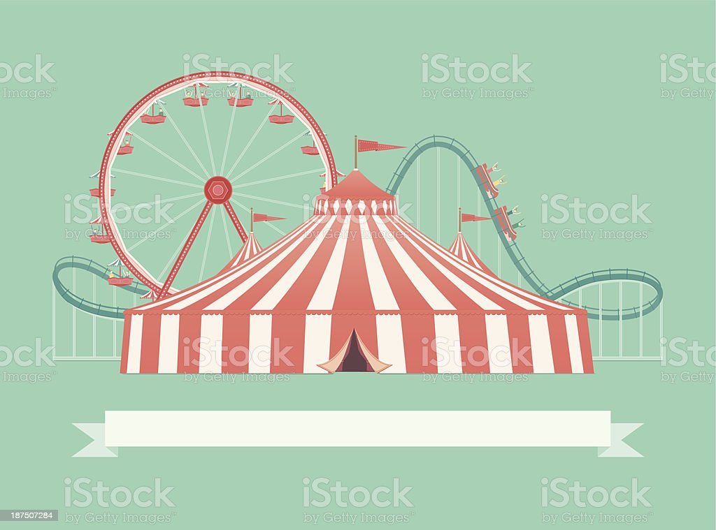 Welcome to the Carnival vector art illustration