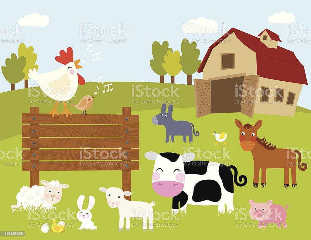 Bienvenue à the Farm - Illustration vectorielle