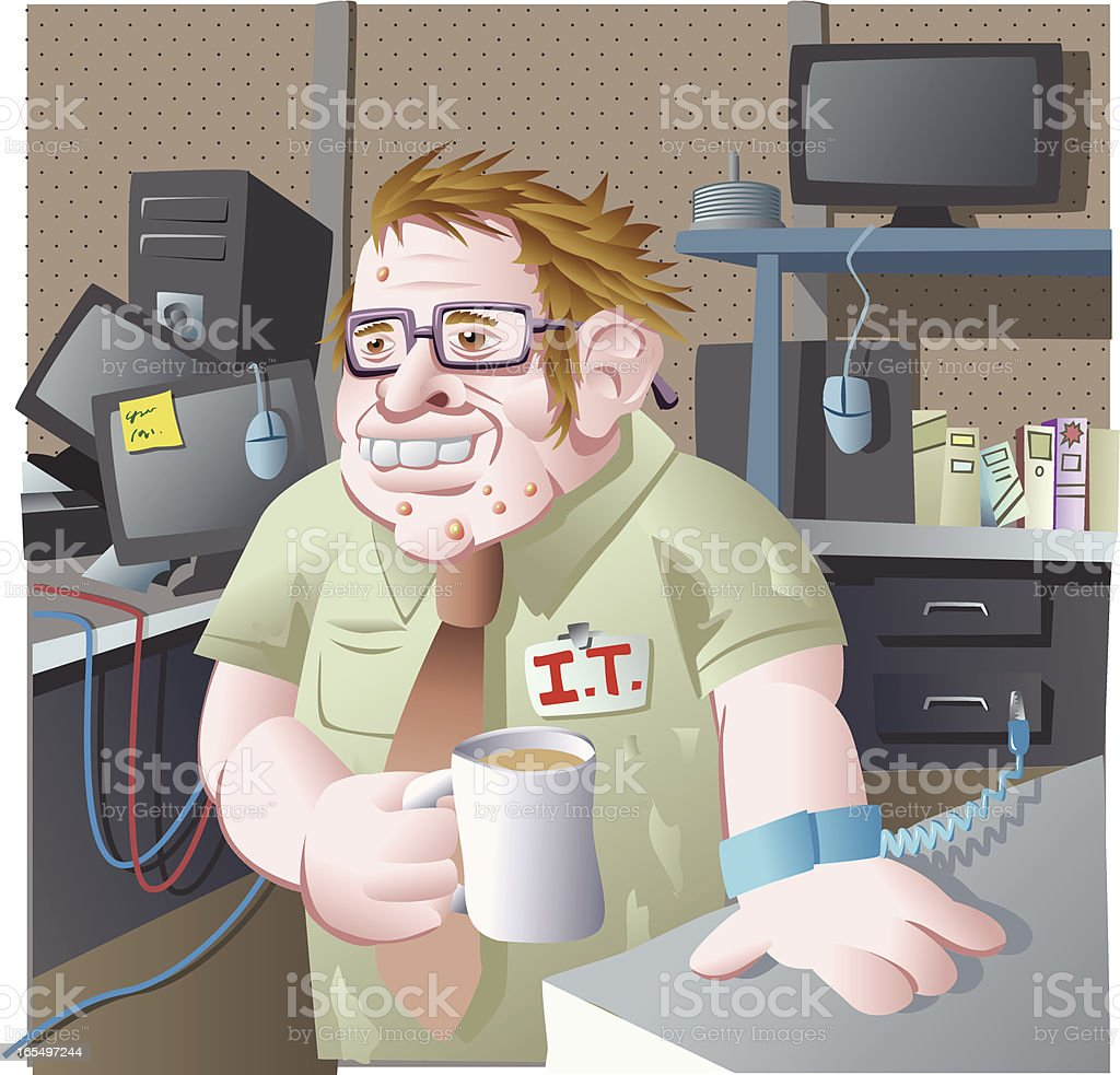 Welcome to the I.T. department! royalty-free stock vector art