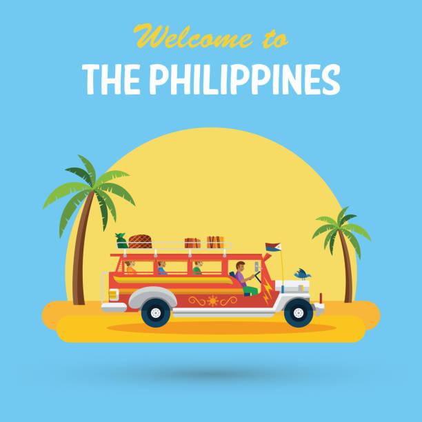stockillustraties, clipart, cartoons en iconen met welkom op de filippijnen banner - filipijnen