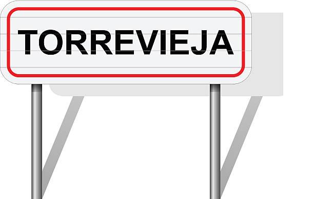 willkommen bei torrevieja spanien schild vektor - alicante stock-grafiken, -clipart, -cartoons und -symbole