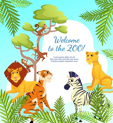 Welcome to Zoo Banner, African Animals on Nature