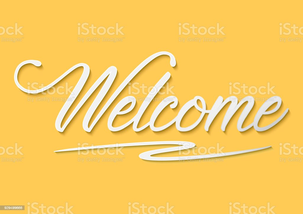 Welcome Typography Handwritting Stock Vector Art More Images Of