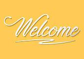 Welcome Typography Handwritting