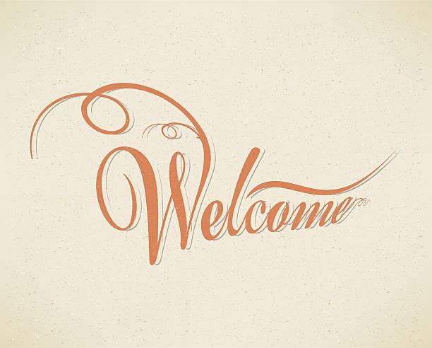 Welcome vector art illustration
