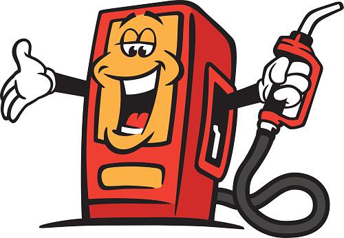 Welcoming gas pump.