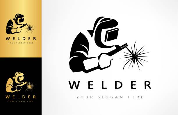 illustrazioni stock, clip art, cartoni animati e icone di tendenza di welder vector - elettrodo