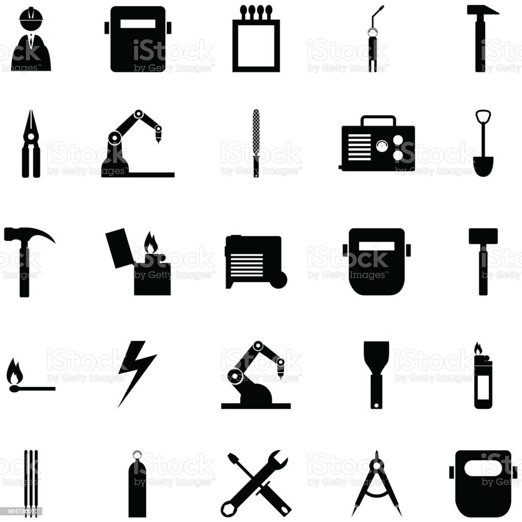 welding icon set royalty-free welding icon set stock vector art & more images of construction industry